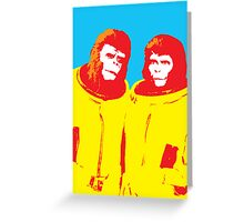 Planet of the Apes, happy couple Greeting Card