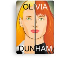 Olivia VS Fauxlivia | Fringe Metal Print