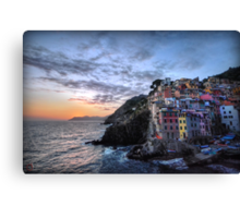 Sunset at Riomaggiore Canvas Print