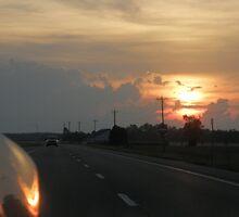 Traveling Sunset III by Trish Nicholas