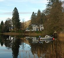 Loch Ard in the Trossachs Scotland by John Butterfield