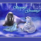 SeasonGreetings~Arctic Friends by murals2go