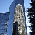 Bank Reflection - Charlotte North Carolina by Sherri Fink