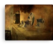Antique Tea Time Canvas Print