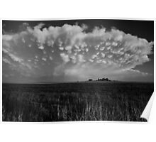 B&W Healy Kansas Thunderstorm Poster