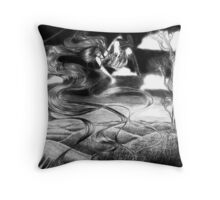 Floating Up Throw Pillow