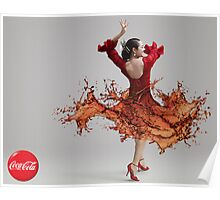 CocaCola Flamenco Dancer Poster