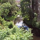 Water of Leith running through Dean Village by biddumy