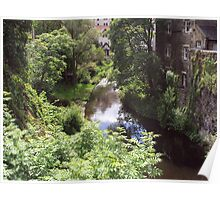 Water of Leith running through Dean Village Poster