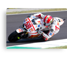 Marco Simoncelli in Mugello 2011 Canvas Print