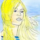 Brigitte on the beach by owendesign