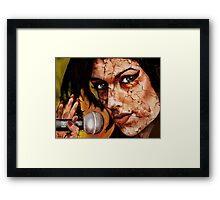 AMY JUST BENEATH THE SURFACE ! Framed Print