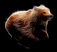 Medicine Wheel Totem Animals by Liane Pinel- Brown Bear by Liane Pinel