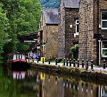 Rochdale Canal Reflections. by inkedsandra