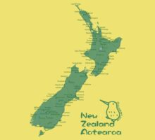 New Zealand's Map by Mariko Suzuki