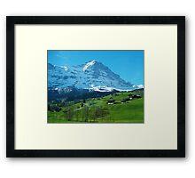 Refreshing Swiss Alps Framed Print