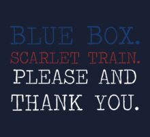 Blue Box. Scarlet Train. Version 2. by inkandstardust