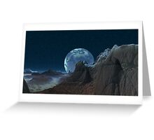 Marbled Moon Greeting Card