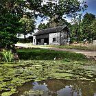 Barn by the pond by Rob Hawkins
