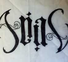 """alias"" ambigram by shannon morris"