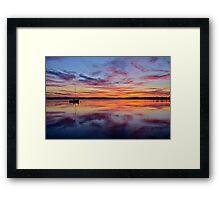 Sunset on the lake. 30-7-11. Framed Print