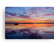 Sunset on the lake. 30-7-11. Metal Print