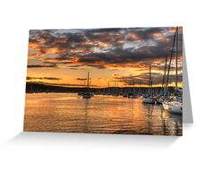 Sunset Moorings - Newport,Sydney Australia - The HDR Experience Greeting Card