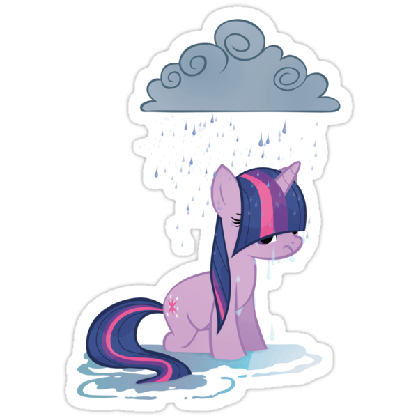 Rainy day pony by Stinkehund