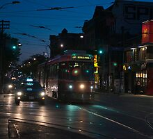 Streetcar at Queen & Spadina by Gary Chapple
