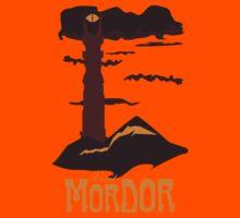 Mordor vintage travel poster Kids Clothes