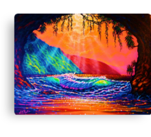 Lava Tube Fantasy in Gold Canvas Print
