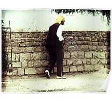 Old Man Walking Poster