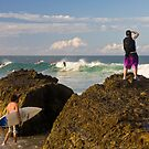Surfing photographer at work by Gavin Lardner