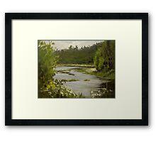 Winery River Framed Print