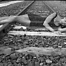 Spirit on Railroad Tracks by Lauren Neely