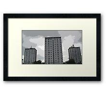 Leverton Gardens 2 , London Road , Sheffield, UK Framed Print