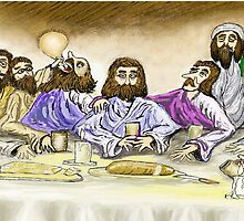 Last Supper  by david michael  schmidt