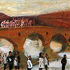 Jump - in the icy river for the cross figurative painting by natalyborissov