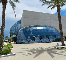 Dali's diamond bubble, adorned with palms yet menaced by the ghosts of conjoined giant spiders by WonderlandGlass