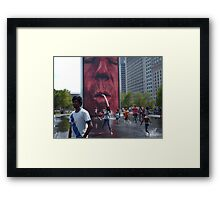 The Crown Fountain @ Millennium Park Chicago Framed Print