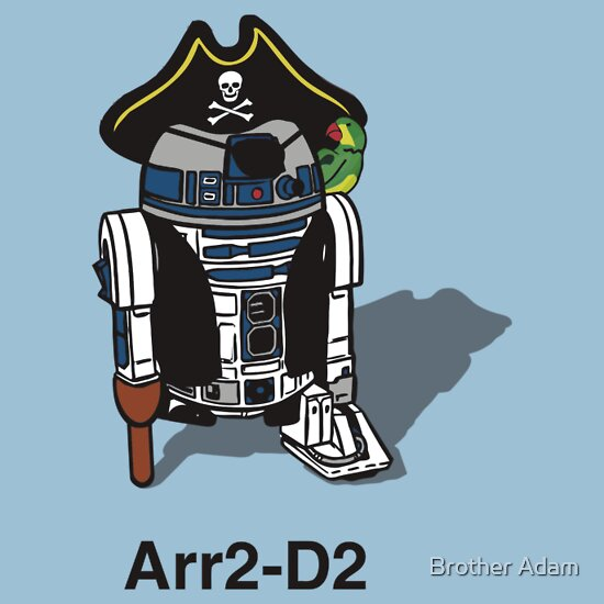 TShirtGifter presents: Pirate Droid Arr2-D2 ...formally known as R2-D2 T-Shirt