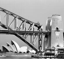 Sydney Opera House & Harbour Bridge at dusk by Thomas Joannes