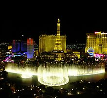 View from Bellagio, Las Vegas by Yool