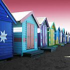 Bathing Boxes, Brighton Beach by Roz McQuillan