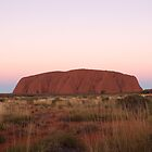 Dusk at Uluru, NT Australia by Debbie  Widmer