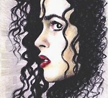 Helena Bonham Carter mini-portrait by wu-wei