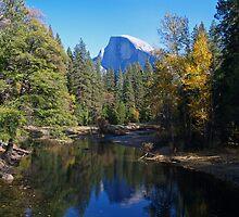 Half Dome and the Merced River by Alex Cassels