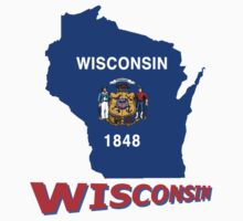 Wisconsin State Flag Kids Clothes