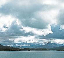 Landscape, Torridon Mountains, Loch Gairloch, Wester Ross, Scotland by Hugh McKean