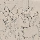 Violinists, Paris by Jonathan Stevenson